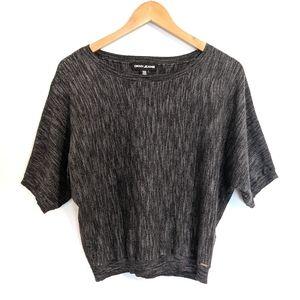 DKNY Heather Black Slouchy Sweater: S